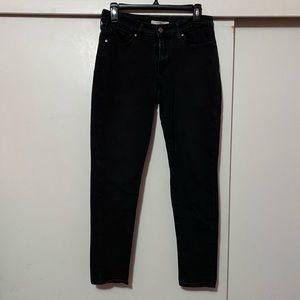 Levi's 711 skinny black jeans/jeggings